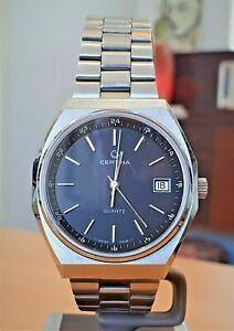 Vintage Certina SS Swiss V8 7 jewel quartz watch