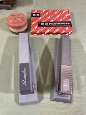 Vintage Swingline Amp Bostitch Staplers Clean With Supplies 60s 70s Cool Desktop