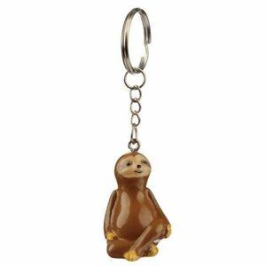 Just Hanging Around Sloth  Key ring, beautiful gift keyring   (UK)