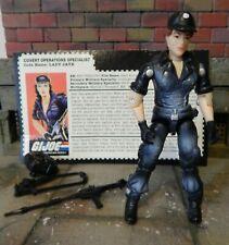 GI JOE ~ 1997 LADY JAYE ~ NIGHT FORCE COMMANDO TEAM ~ 100% COMPLETE & FILE CARD
