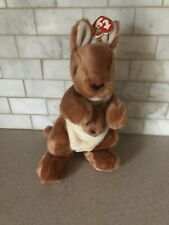 "Beanie Baby Buddy 12"" POUCH Kangaroo and Baby Joey 2000 Large Retired"