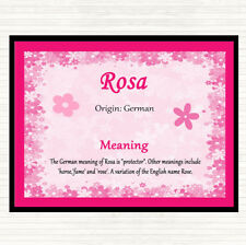 Rosa Name Meaning Dinner Table Placemat Pink