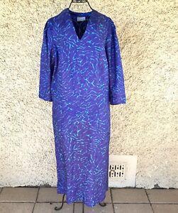 Vintage 1980s Maggie T Purple Crushed Taffeta Fishtail Evening Formal Dress 14
