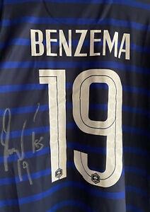 Signed Karim Benzema France Home Shirt SEE PROOF Real Madrid Autograph