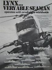 5/1980 PUB WESTLAND HUBSCHRAUBER SEA LYNX HMS BIRMINGHAM ROYAL NAVY GERMAN AD