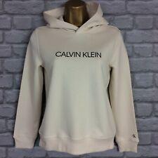 CALVIN KLEIN GIRLS 10 YEARS YRS CREAM INSTITUTIONAL LOGO HOODIE HOODED RRP £60 *