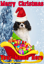 Cavalier King Charles Spaniel Dog nnc190 Christmas Card A5 Personalised Greeting