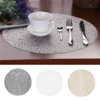 Non-slip Round Insulation Kitchen Placemat Pad Dining Table Mat Coaster Decor