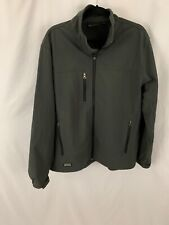 Dri Duck DDX Mens Large  Charcoal Gray Coat Midweight Water Repel  Jacket $95