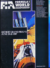 AYRTON SENNA Winner 1987 US F1 DETROIT GP PROGRAM Mansell,Piquet,Alain Prost '87