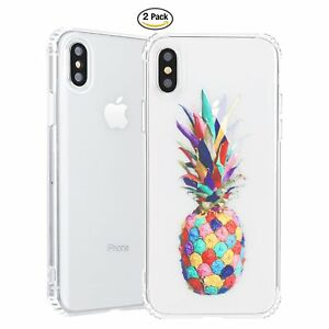 iPhone X Case,iPhone 10 Case with flowers 2-Pack Clear Floral pattern protective