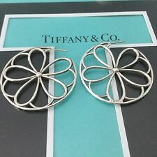 Tiffany & Co. Garden Flower Petal Hoops Earrings. Rare