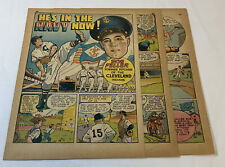 1942 four page cartoon story ~BOB FELLER He's In The Navy Now~ Cleveland Indians