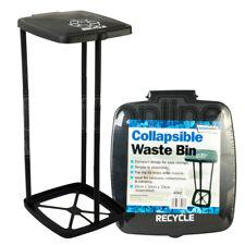 Leisurewize Portable Collapsible Waste Dust Bin Large Lid Camping Caravan Waste