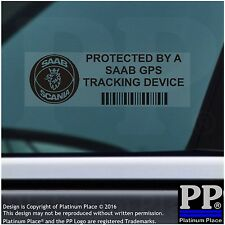5 x SAAB GPS Tracking Device Security BLACK Stickers-9-3 9-5-Car Alarm Tracker