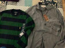 2 men?s shirts Polo Ralph Lauren & Penguin retail $130 NEW NWT small