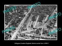 OLD LARGE HISTORIC PHOTO ISLINGTON LONDON ENGLAND DISTRICT AERIAL VIEW c1950 2