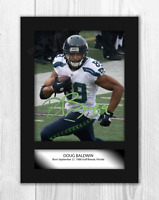 Doug Baldwin (1) NFL Seattle Seahawks A4 signed mounted poster. Choice of frame.