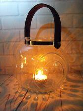 GLASS LANTERN CANDLE HOLDER TEA LIGHT PLAIN GLASS CONTEMPORARY MODERN TEA LIGHT