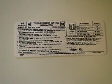 1974 BUICK CENTURY REGAL ELECTRA LESABRE 455 4BBL ENGINE EMISSIONS DECAL