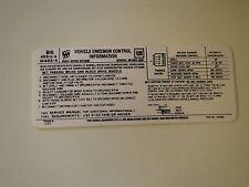 1974 BUICK CENTURY REGAL ELECTRA LESABRE 455 4BBL ENGINE EMISSIONS DECAL