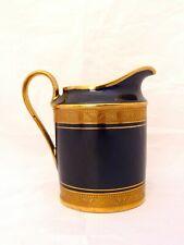 LEGLE LIMOGES Cobalt Blue Incrusted Gold Gilt Moka Coffee MILK Pot Demitasse