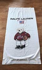 Vintage Ralph Lauren Sport Olympic Basketball Polo Bear Bath Towel RARE!