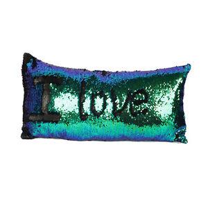 Fashion Reversible Mermaid Pillow Sequin Cover Glitter CaseHome Decor Decors