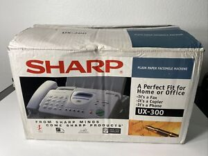 Sharp UX-300 Fax Machine NEW Plain Paper Fax Copier Phone 3 in 1 RARE Complete