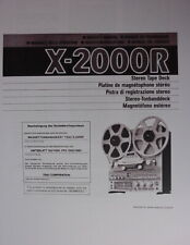 TEAC X-2000R TAPE DECK OWNER MANUAL 61 Pages MultiLang
