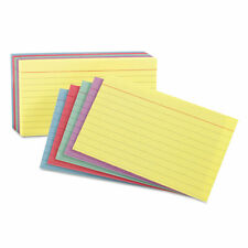 Oxford Ruled Index Cards 3 X 5 Bluevioletcanarygreencherry 100pack