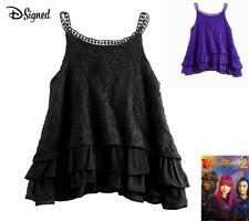 NWT DISNEY D-SIGNED Descendants Girls Black/Blue Lace Sleeveless Top(Size S, M)