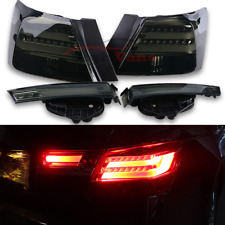 Fit For Honda Accord 2008-2012 1Pair LH+RH BMW Style Smoke LED Rear Tail Lights