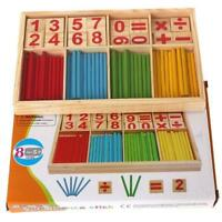 Early Education Stick Learning Number Puzzle  Child Wooden Counting Toy Y2