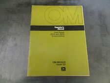 John Deere JDX4 and JDX8 Snowmobiles Operator's Manual   OM-M63828 Issue G2