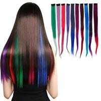 10PCS 22'' Highlight Streaks Real Straight Clip in on Synthetic Hair Extensions