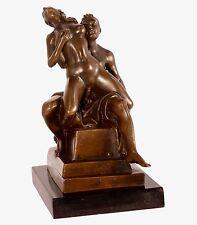 Scultura in bronzo personaggio NUDE SIGNORA erotico atto BRONZO