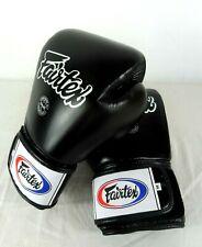 Gants de boxe Fairtex en cuir noir - Taille 14 - Réf : BGV1