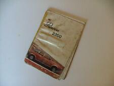 AUSTIN LEYLAND PRINCESS 2200 HL HLS - 1975 to 1981 - OWNER's HANDBOOK