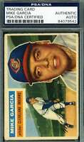Mike Garcia 1956 Topps Psa Dna Coa Autograph Authentic Hand Signed