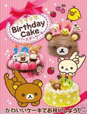 Sanrio Re-ment Miniature San-X Rilakkuma Happy Birthday Cake Full set of 8