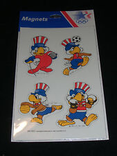 Vtg 80's OLYMPIC Coll Magnets Sam Eagle L. A. FENCING SOCCER BOXING B BALL NOS