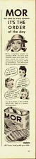 1940's Vintage ad for MOR/Wilson's (Canned Meat) 40's Art/Fashion/Hair Styles