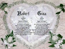 """""""Wedding Rings"""" Double Name Meaning Print Personalized (Love, Romance, Marriage)"""