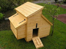 Chicken Hen Coop House 12mm Weatherboard 1100 mm D x 1500 mm W x 1300 mm H