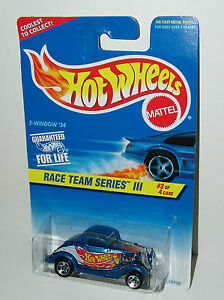 Hot Wheels Race Team III 3 Window 34 Sp5's Metal Base #535 Malaysia 1997