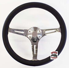 "15"" MUSCLE CAR LEATHER steering wheel and button for Ford cars"