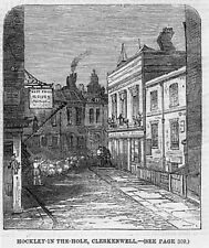 LONDON Hockley in the Hole Clerkenwell - Antique Print 1859