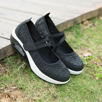 Womens Air Cushion Sneakers Walking Tennis Slip on LightWeight Comfort Shoes