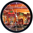 Classic Old Fashion Beer Black Frame Wall Clock Nice For Decor or Gifts Y103